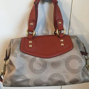 Coach Bags - Cream and orange coach purse